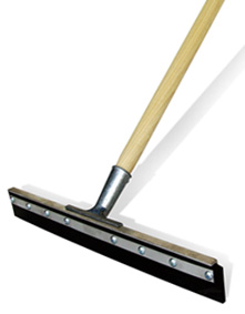 Floor squeegee for easy cleanup