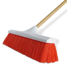 large shop broom that quickly cleans flloors