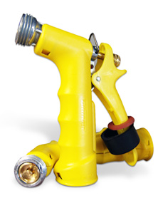gilmore hose head is impact resistant, rustproof, mid-size, with a polymer body