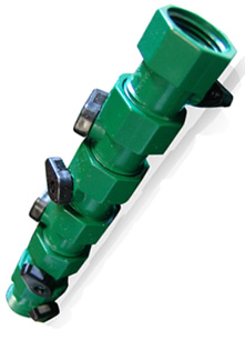multiple link hose head has connector valves that allows them to fit between a hose and a spigot or between two hoses