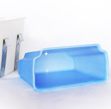 plastic trays to store tools and supplies
